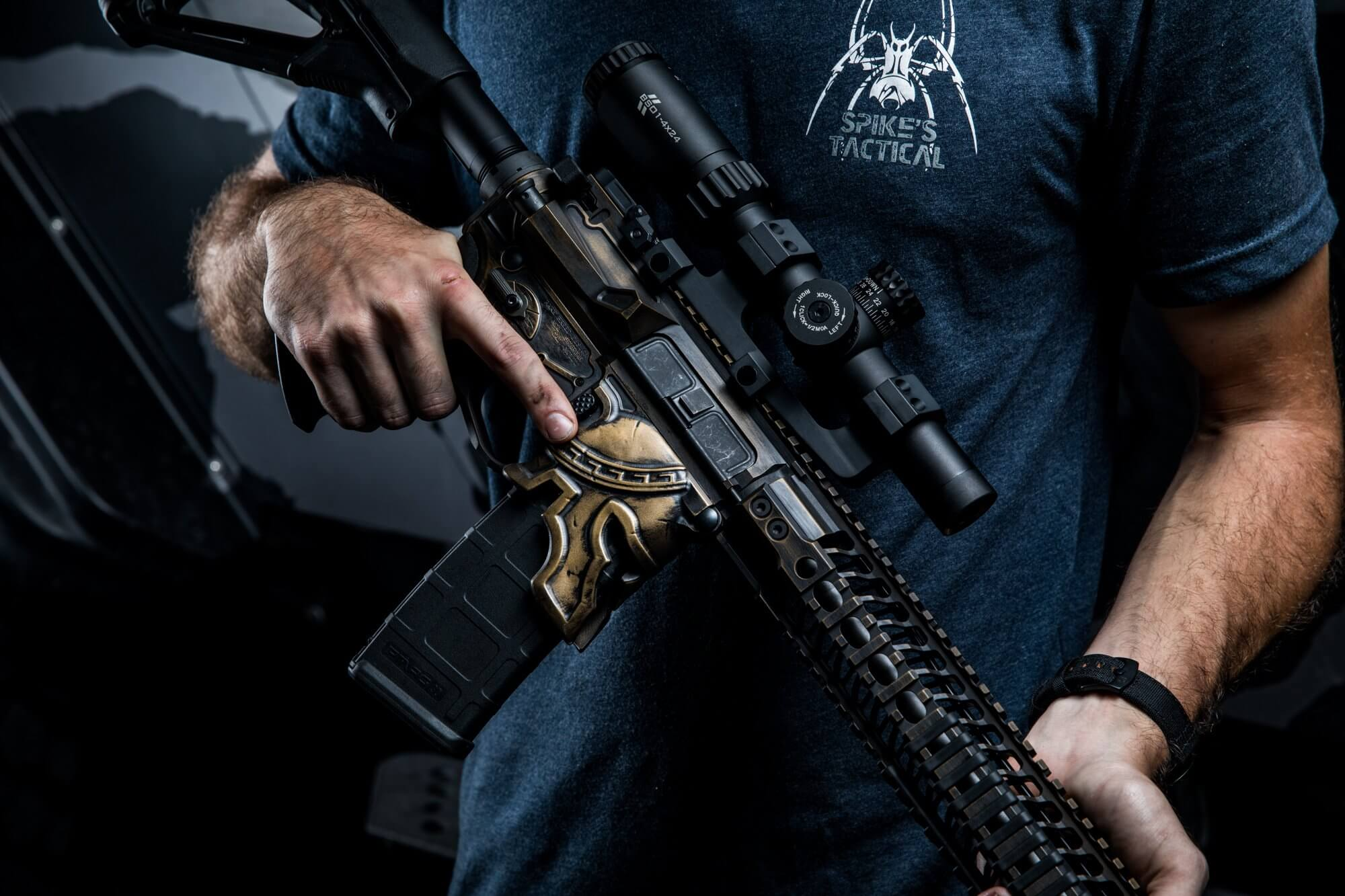 Long-awaited Spike's Tactical 3D AR-15 Spartan helmet lower receiver to go on sale Friday