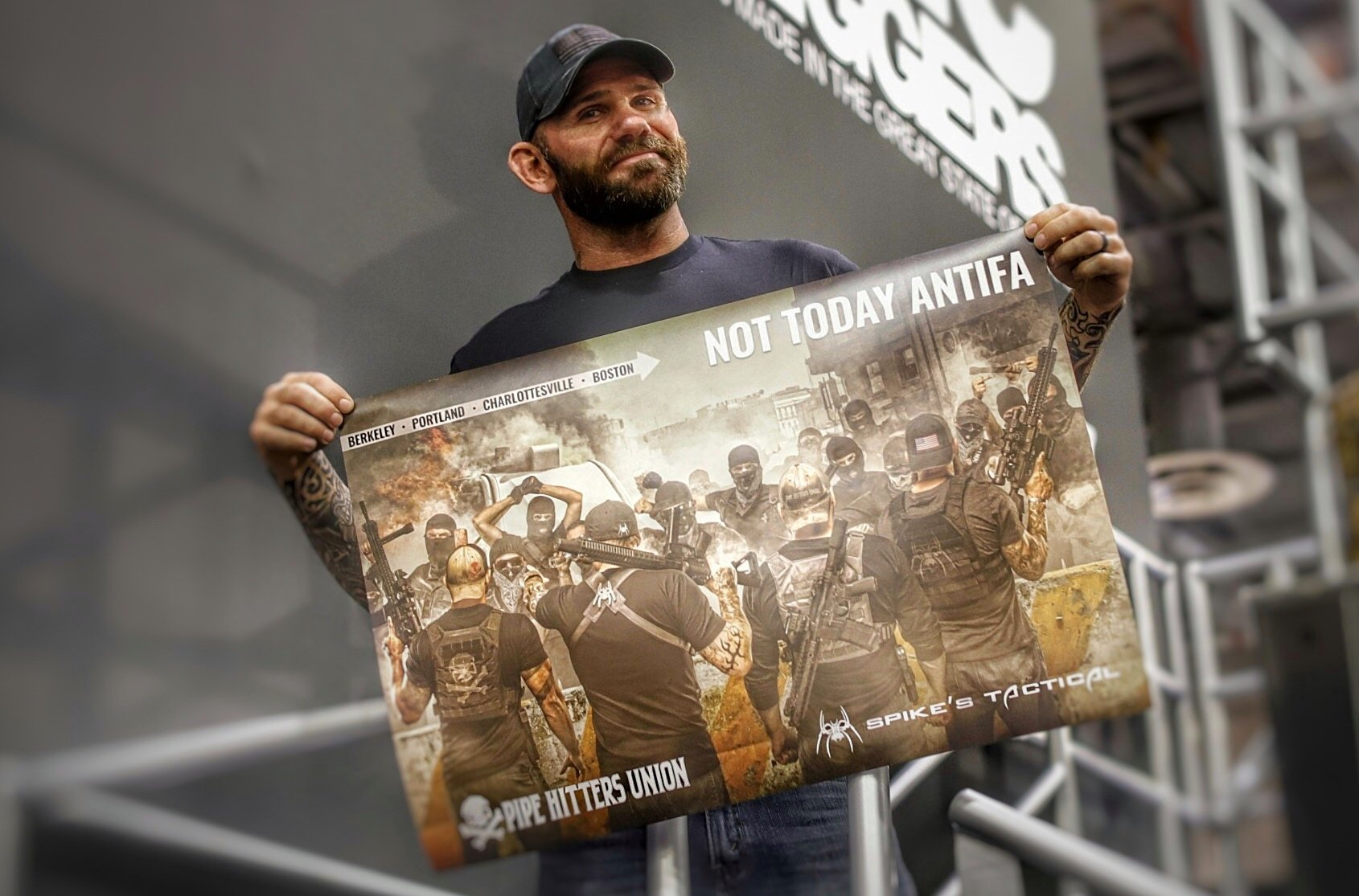 Spike's Tactical kicks off 2018 with new marketing director, due to demand, releases poster of NOT TODAY ANTIFA ad