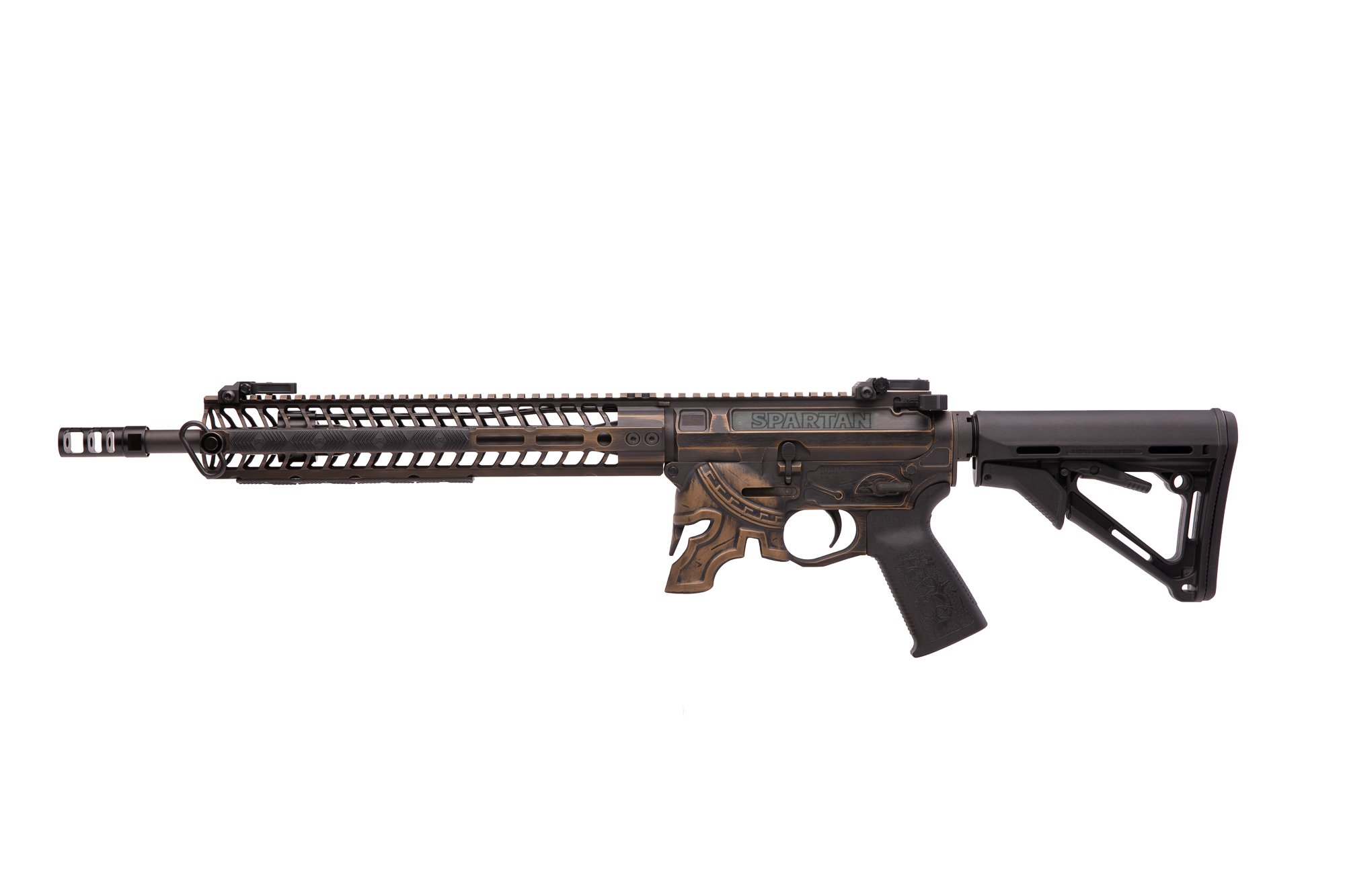 14.5″ Rare Breed Spartan Cerakoted Rifle (16″ OAL)