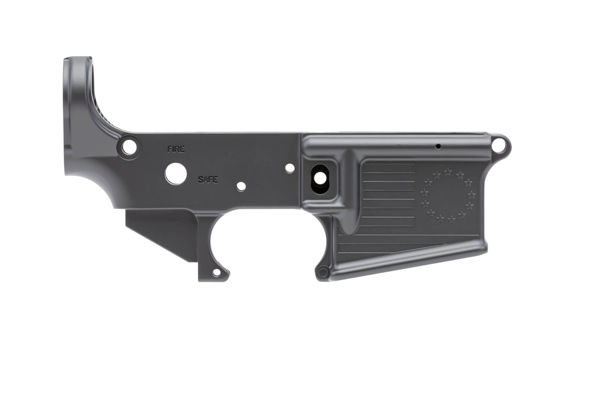 Betsy Ross Flag Stripped Lower Receiver